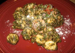+ gnocchi, sauteed tomatoes, portabellos