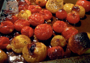 carmelized cherry tomatoes for sauce