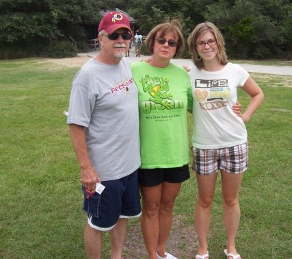 My dad, my mom, and me getting ready to go up the Cape Hatteras lighthouse