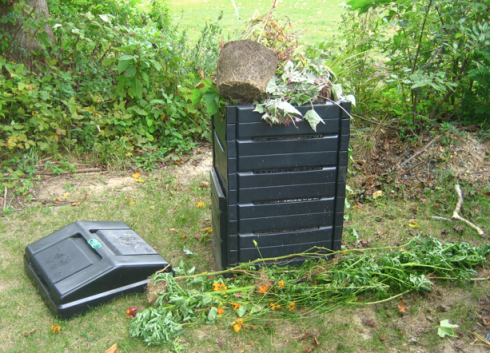 an overflowing composter!